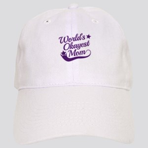 World's Okayest Mom Purple Cap
