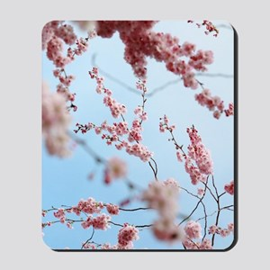 blue cherry blossoms flowers Mousepad