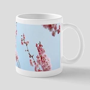 blue cherry blossoms flowers Mugs