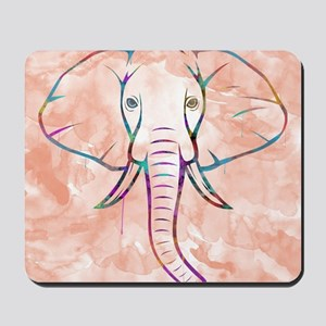 Elephant Watercolor Mousepad