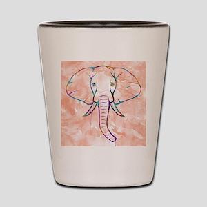 Elephant Watercolor Shot Glass