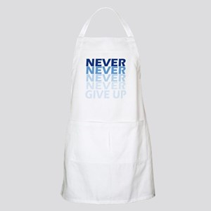 Never Give Up Blue Dark Apron