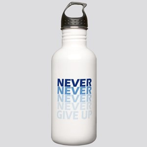 Never Give Up Blue Dar Stainless Water Bottle 1.0L