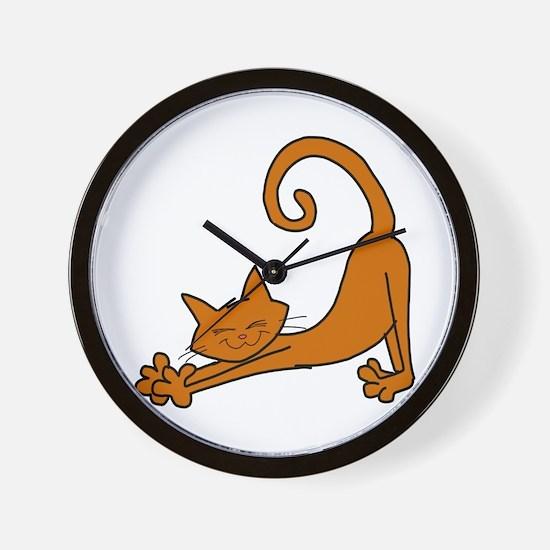 Cute Orange cat Wall Clock