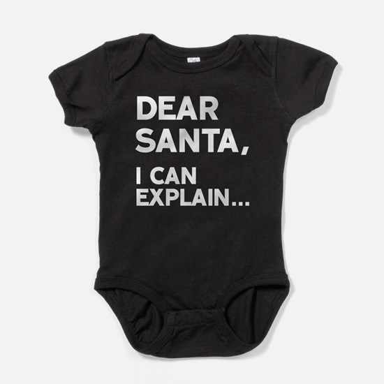 Dear Santa, I Can Explain Body Suit