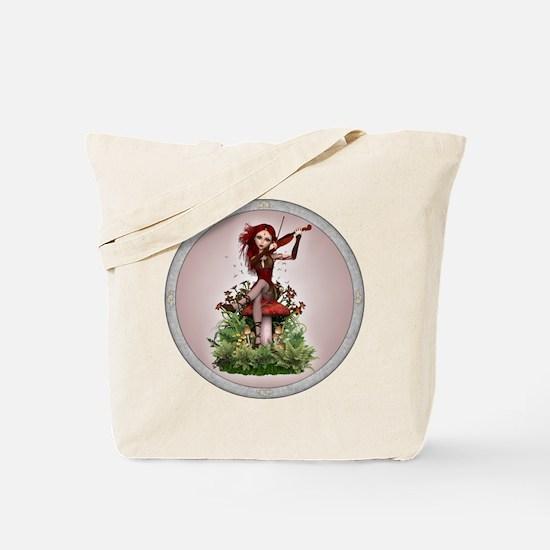 Coral Fairy and Violin Tote Bag