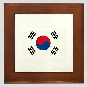 South Korea Flag Framed Tile