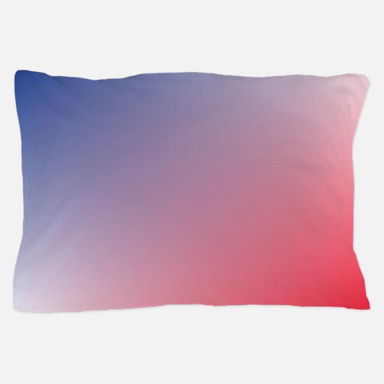 red white blue ombre Pillow Case