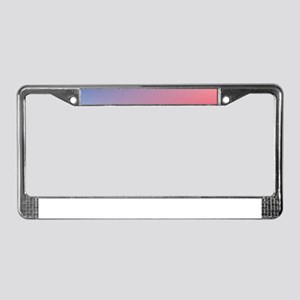 red white blue ombre License Plate Frame