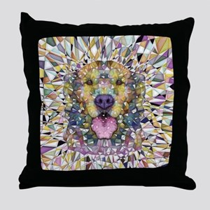 Rainbow Dog Throw Pillow