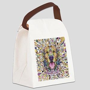 Rainbow Dog Canvas Lunch Bag