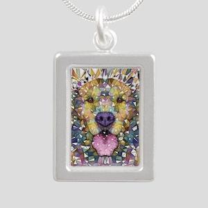 Rainbow Dog Silver Portrait Necklace