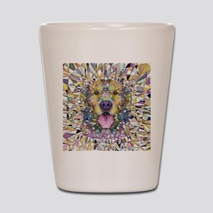 Rainbow Dog Shot Glass