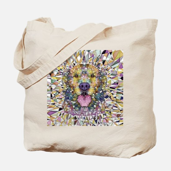 Rainbow Dog Tote Bag