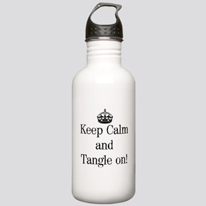 Keep Calm and Tangle On! Water Bottle
