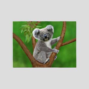 Blue-Eyed Baby Koala 5'x7'Area Rug
