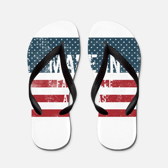 Made in Fayetteville, Arkansas Flip Flops