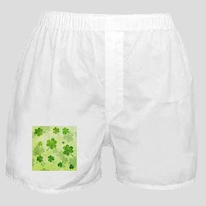 Green Shamrock Pattern Boxer Shorts
