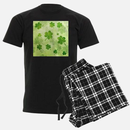 Green Shamrock Pattern Pajamas