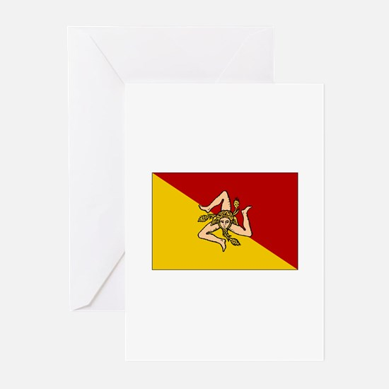 Sicily - Sicilian Flag Greeting Cards (Package of