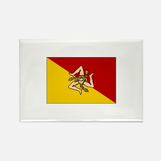 Sicily - Sicilian Flag Rectangle Magnet