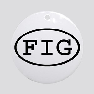 FIG Oval Ornament (Round)