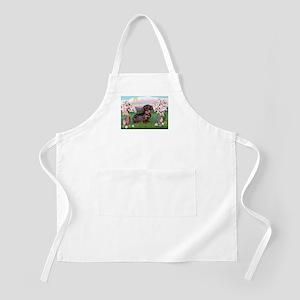 Blossoms / Dachshund BBQ Apron