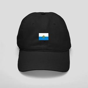 San Marino - Flag Black Cap