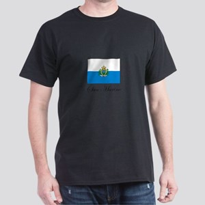 San Marino - Flag Dark T-Shirt