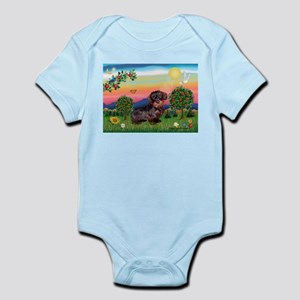 Doxie in Bright Country (WH) Infant Bodysuit