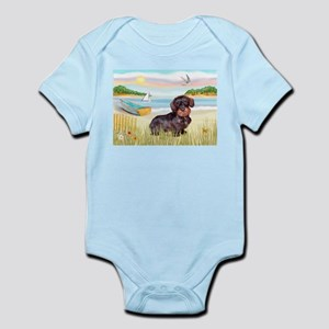 Rowboat / Wire Haired Dachshund Infant Bodysuit