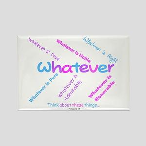 Whatever - Light Blue, Purple Rectangle Magnet