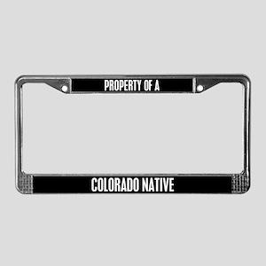 Colorado Native License Plate Frame