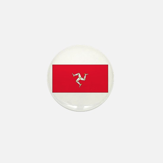 Isle of Man Flag Mini Button