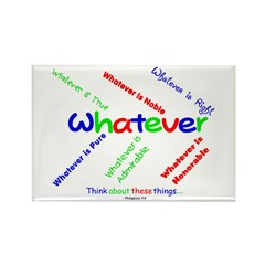 Whatever - Blue, Red, Green Rectangle Magnet