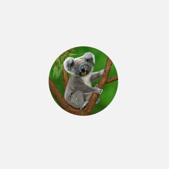 Blue-Eyed Baby Koala Mini Button