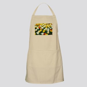 White, Yellow and Orange Tulips Apron