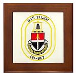 USS ELLIOT Framed Tile