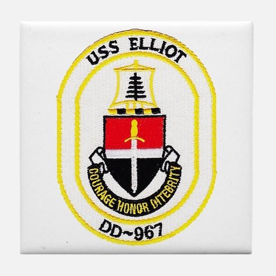 USS ELLIOT Tile Coaster