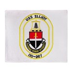 USS ELLIOT Throw Blanket