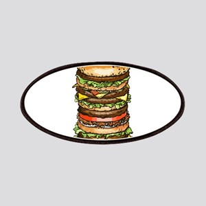 stacked burger drawing art Patches