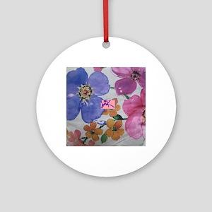 Traci K Spring designs Round Ornament