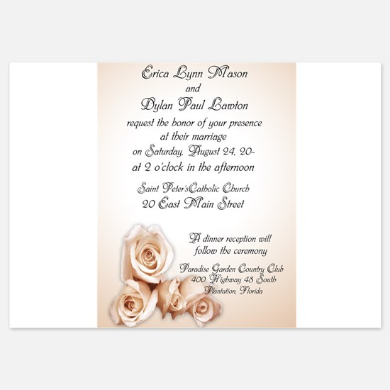 ivory roses wedding Invitations