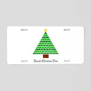 Pascal's Christmas Tree Aluminum License Plate