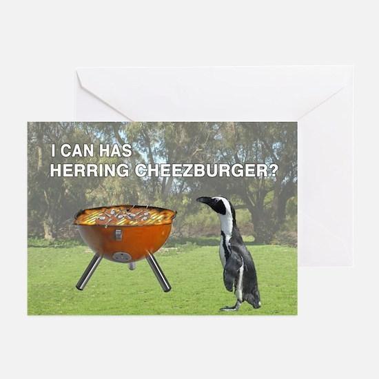 HERRING CHEEZBURGER Greeting Cards (Pk of 10)