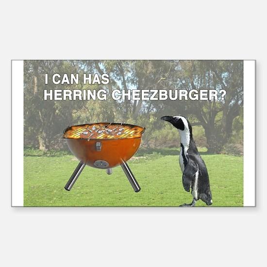 HERRING CHEEZBURGER Rectangle Decal