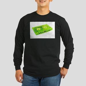 vintage cassette tape lime gre Long Sleeve T-Shirt