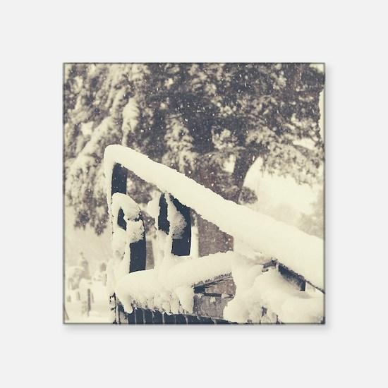 Winter Cemetery Gate Sticker