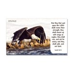 Mount On Wings As Eagles Car Magnet 20 X 12