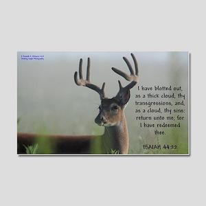 8 Point Buck In Fog - Isaiah Car Magnet 20 X 12